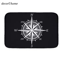 decorUhome Simple Anchor Flannel Waterproof Mats Compass Arrow Carpets Bedroom Rugs Decorative Stair Mats Home Decor Crafts