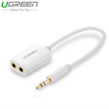 Ugreen I5 HiFi Stereo Earphone Aux Cable Splitter For iPhone 6S 3.5mm 2 Female Jack Audio Cable For Phone Headset Laptop Tablet