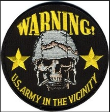 Free shipping US ARMY skull patches,custom embroidery patch for shirt
