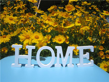8cm free Standing Artificial wood wooden white Letter for decorations Wedding Decorations Home Decorations Brithday Gift(Cambodia)