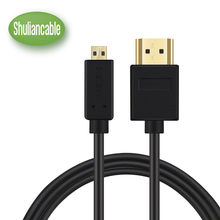 Shuliancable High-Speed HDMI to Micro HDMI (A-D) HDTV Cable Supports Ethernet, 3D, 4K and Audio Return 1M 1.5M 2M 3M(China)