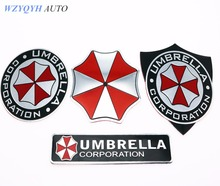 Car styling 3D Aluminum Alloy Umbrella Corporation Car Stickers Resident Evil For Chevrolet Opel Peugeot Renault Mazda Bmw Audi