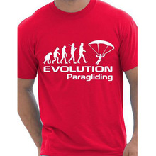 Evolution Of Paragliding Paragliders Gift Mens T Shirt More Size and Colors interesting funny(China)