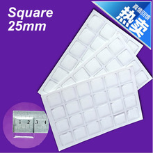 10pcs Clear Square Epoxy Domes Resin Stickers 25mm For Photo Craft Jewelry Making (K05336)