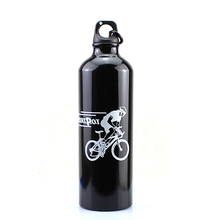 Buy 750ML Water drink Bottle Outdoor Sports Camping Hiking Bicycle Bike Cycling Water Bottles Aluminum Alloy Black for $3.24 in AliExpress store