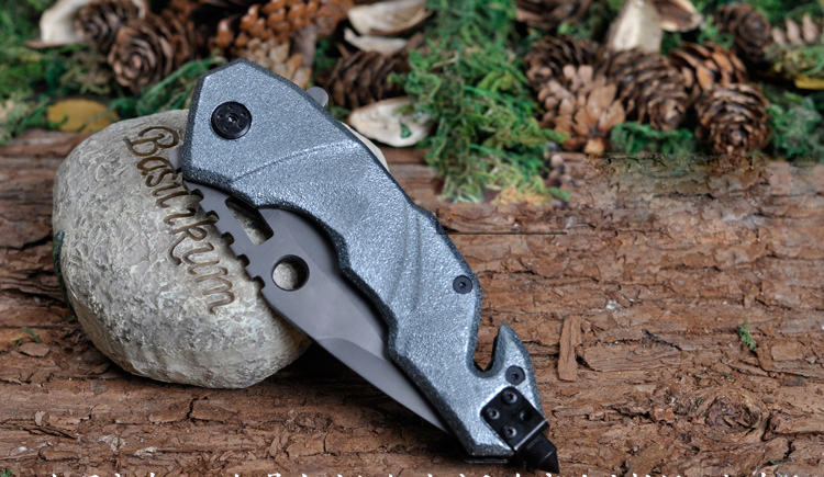 MARS MADAM X734-1 Heavy Serrated Multi Functional Tactical Folding Knife Hunting Knife Camping Survival Pocket Knife<br>