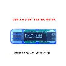 White Font Color OLED USB 2.0 Detector Voltmeter Ammeter Power Capacity Tester Meter Voltage Current Mobile USB Power Tester