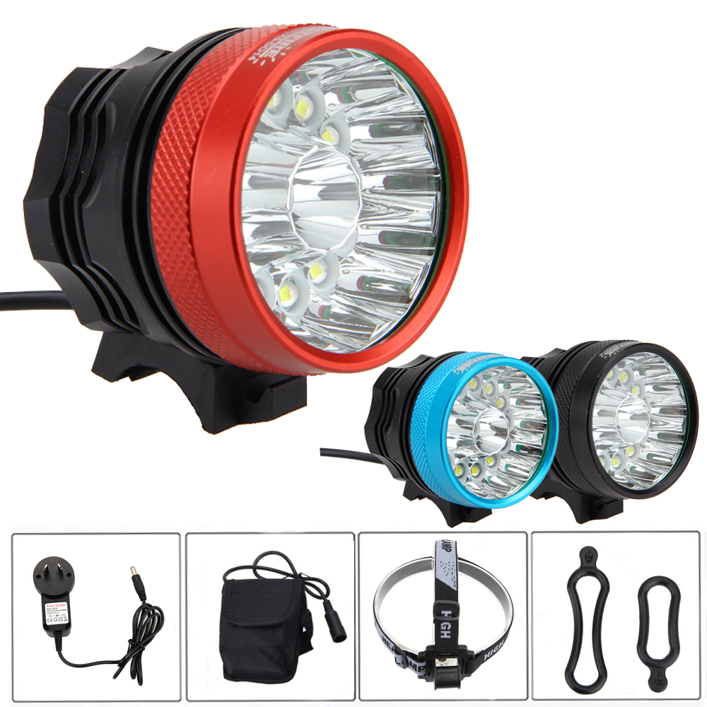 Rechargeale 40000LM 14x XM-L T6 LED Bicycle Bike Lights Head Light Torch Lamp +6*18650 Battery + Headband<br>