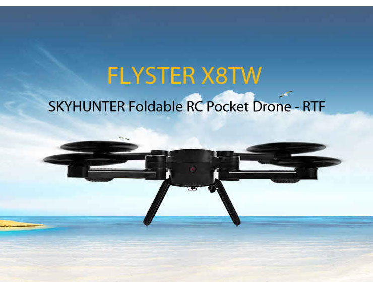 JIE-STAR X8TW Wifi FPV with 0.3MP Camera Altitude Hold Foldable RC Quadcopter RTF 2.4GHz