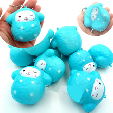 Cute Squishy Kawaii Cartoon Sheep Slow Rising Anti Stress Straps Pendant Soft Squeeze Bread Cake Gift Toy Kid Fun Wholesale(China)