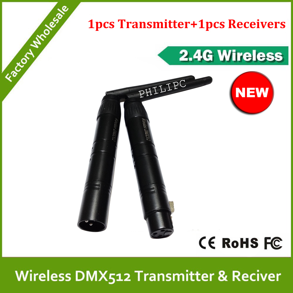 DHL/EMS Free Shipping 2.4GHz wireless DMX512 Transmitter / Receiver<br>