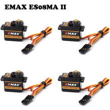 4pcs/lot 100% orginal EMAX ES08MA II Mini Metal Gear Analog Servo 12g/ 2.0kg/ 0.12 Sec Mg90S(China)