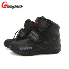Ridin Tribe Microfiber Leather Motorcycle Boots Motor Bike SPEED Moto Racing Motocross boot Motorbike Motorcycle Boots(China)