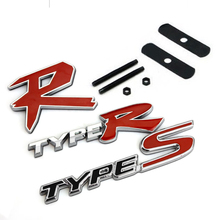 3D TYPER TYPE R Racing Emblem Badge Logo Decal Sticker Stickers TYPES TYPE S Metal Front Grill Grille Badge Emblem For HONDA KIA