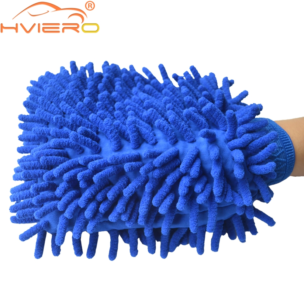 Hviero Microfiber Chenille Car Styling Car Motorcycle Wash Vehicle Auto Cleaning Mitt Glove equipment Car detailing Cloths Home Duster