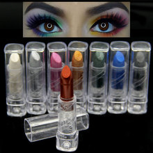 8 Colors High Quality Smoky Metallic Shimmer Matte Eyeshadow Pencil Makeup Cream Glam Eey Shadow Stick Beauty Maquiagem