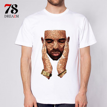 drake shirt men hot 2017 rap music New Fashion rapper O-neck T Shirt Men Trend Casual Men T-Shirt T Shirts S-3XL