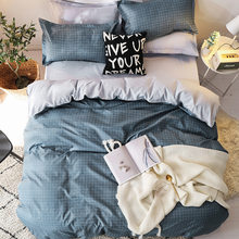Luxury Bedding Sets 3/4pcs Geometric Pattern Bed Linings Duvet Cover Bed Sheet Pillowcases Cover Set(China)