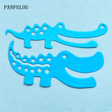 PANFELOU Metal craft The crocodile die cutting dies for Scrapbooking/DIY Christmas wedding Halloween cards Hand account(China)
