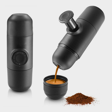 2017 NEW China Creative Black Best Double Handheld Percolators Hand Pressure mini espresso machine portable coffee maker