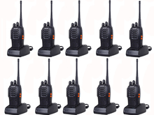 10PCS Two-Way Radio Walkie Talkie Handy Pofung Bf-888s Baofeng 888s With 5w CB Radio Scanner  Handheld Ham Radio HF Transceiver