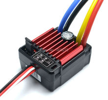 1pcs HobbyWing QuicRun 1:10 Brushed 60A Electronic Speed Controller ESC Waterproof 1060 RC Car(China)