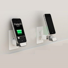 Mini iDock Wall Wireless Charger Docking Dock Station Adapter into USB Socket + EU Plug For iPhone 3G 3GS 4 4S Nano 5 6 Touch 4
