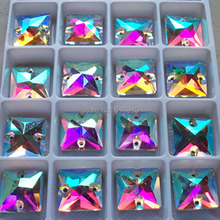 hot .hot-selling of S716 16*16 mm Crystal glass stone for sexy girl shoes by China post air mail 100 pcs each box(China)