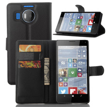 Luxury Wallet Style PU Leather Case for Microsoft Lumia 950 XL with Card Holders Smart Stand Soft Cover case for Lumia 950XL
