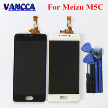 High Quality New LCD Display Replacement + Touch Screen Digitizer For Meizu M5C / Meilan 5C Black White Color Free Shipping(China)