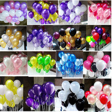 Hot sale 100 pcs 10 Inch 1.8g Birthday/Wedding Supply Latex Balloons Colorful Party Latex Air Baloon/Ballon Kids Inflatable Toy(China)