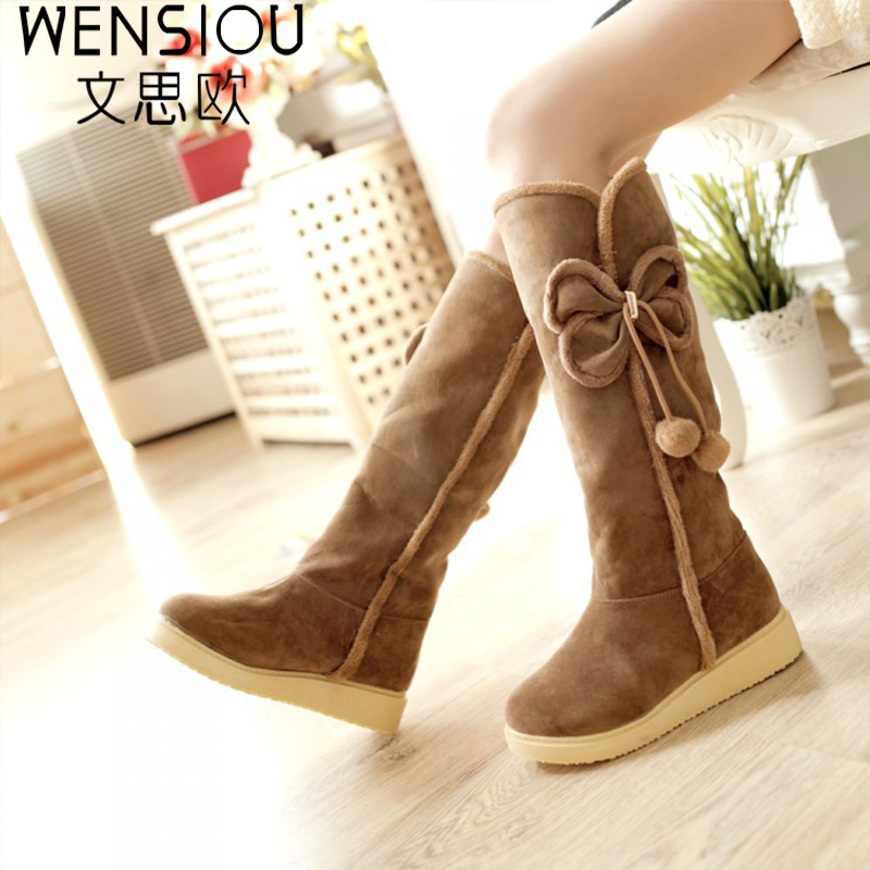 2017 Autumn and winter women snow boots fashion sweet solid flat boots snow boots women fitted fashion popular footwear DT629<br>