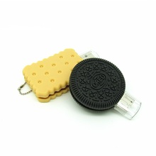 Funny food cookie usb flash drive disk Biscuit memory stick 16gb 32gb pendrive Pen drive personalizado mini computer gift 4 8gb