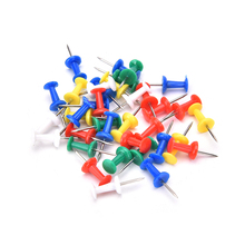 80PCS/BOX Multi Color Push Pins For Wooden Framed Cork Pin Notice Memo Board Display Board School Stationery Supplies(China)
