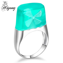 Imitation windmill Brass Resin Ring Fresh Nature Colour fairy land Magnificent Tiny Fantasy Landscape Beauty Jewels for Mother