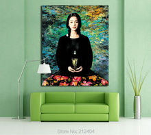 Southland Buddhism Girls- Body Art Chinese Oil Painting By China Artists Printed on Canvas Frameless Wall Art Home Decoration