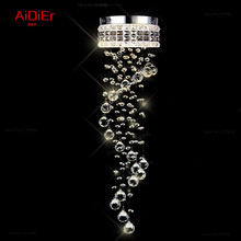 modern chandelier aisle small Spiral staircase lamp corridor hallway LED Crystal Light balcony lighting(China)
