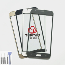 New Outer LCD Front Screen Glass Lens Cover Replacement Parts For Samsung Galaxy J3 2017 J327 J327A J327P J327F Touch Screen(China)