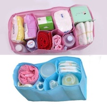 1 pcs Beautiful Baby Portable Diaper Nappy Water Bottle Changing Divider Storage Organizer Bag maquillaje organizador viaje(China)