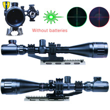 High quality 6-24x50 Hunting Rifle Scope Mil-dot Illuminated Snipe Scope & Green Laser Sight JG1 Airsoft Hunting Rifle Scope