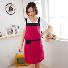 1Pcs Kitchen Apron Restaurant Waterproof Aprons Solid Color For Women Home Sleeveless Apron Cooking Supplies 5Z
