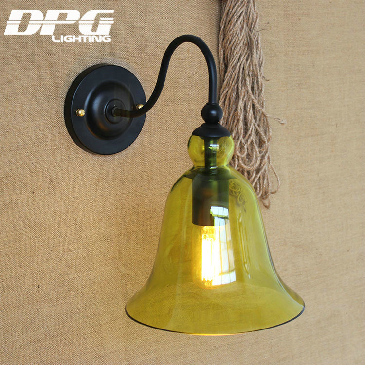 Country Glass wall lamp light for led 110v 220v vintage Loft Antique industrial america Classic indoor Retro sconces for home<br><br>Aliexpress