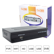New DVB-S2 Combo 2 in 1 Digital Satellite Receiver Combo dvb t2 + S2 HD 1080P dvb-t2 tv Box Support WiFi & YouTube CCCAM/NEWCAM(China)