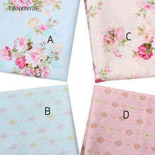 TIANXINYUE Rose Cotton Fabric Printed Patchwork Fabric For Sewing wedding Bedding Pillows Blankets Cushions cloth(China)