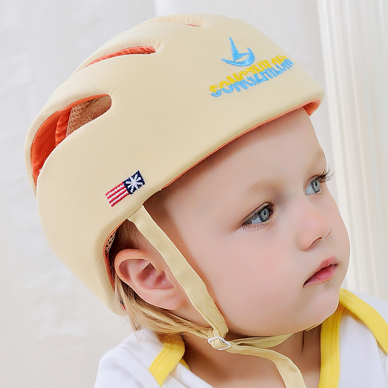Free Shipping!2016 Baby Safety Helmet Toddler Cap Baby Anti- Shock Hat Infant Protective Hat For Learning Walk & Size Adjustable(China (Mainland))