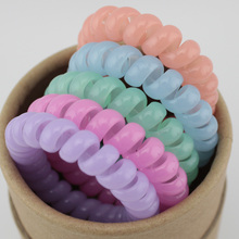5 pcs fashion telephone wire hair bands elastic Silicone rezinochki gum spring scrunchy for women children girls headband