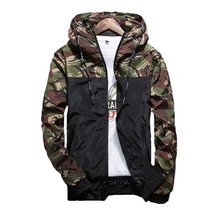 Spring Autumn Male Jacket Outerwear Zipper Breasted Mens Camouflage Jackets Casual Fashion Windbreaker Coat Men Slim Fit Hooded(China)