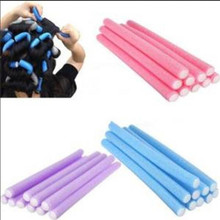2017 New 10Pcs Soft Hair Curler Roller Curl Hair Bendy Rollers DIY Magic Hair Curlers Tool Styling Rollers Sponge Hair Curling(China)
