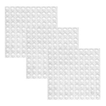 practical boutique 300 pieces clear rubber feet adhesive door bumpers pads sound dampening cabinet buffer pads 85 by 25 mm