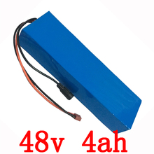 48v 4Ah 500W Ebike Lithium Battery electric scooter battery 200w bicycle Battery Pack with 54.6v 2Acharger 15A BMS Free Shipping(China)